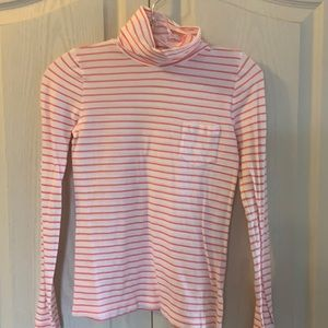 J.Crew crewcuts pink and white striped long tee